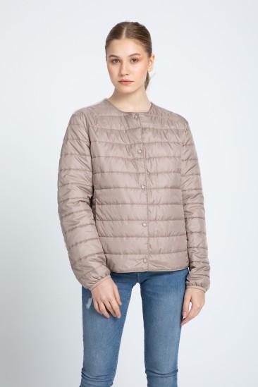 Audra Women Ecru Shearling Hybrid Jacket