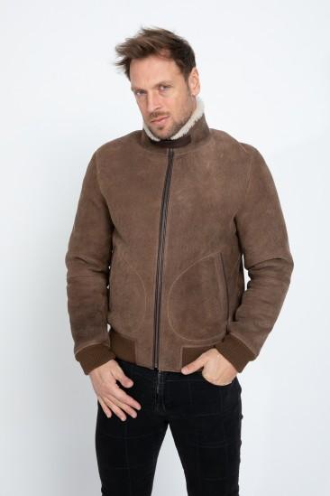 Alfie Men Brown/ecru Shearling Coat