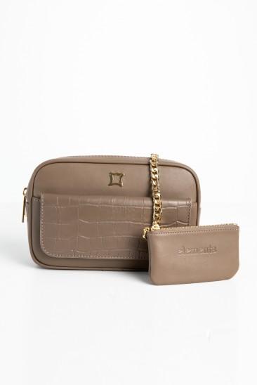 Carla Women Mink Color Leather Belt Bag