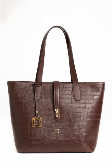 Celina Women Damson Color Printed Leather Shoulder Bag