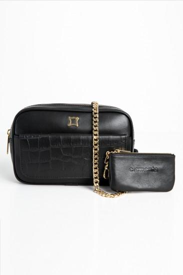Carla Women Black Color Leather Belt Bag