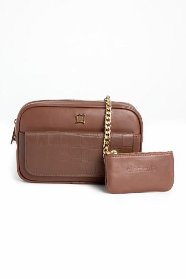 Carla Women Camel Color Leather Belt Bag
