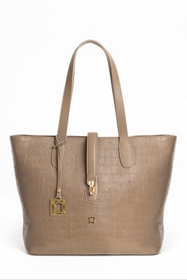 Celina Women Mink Color Printed Leather Shoulder Bag