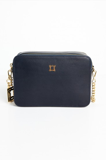 Blossom Women Navy Color Leather Cross Body Bag
